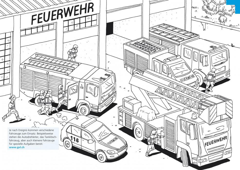 Gebäudeversicherung Luzern – Malbuch